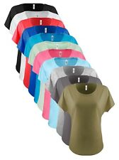 Womens Ladies Next Level Ladies Cotton Blend Dolman Sleeve Baggy T-Shirt Tee