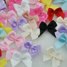 30PCS Mini Satin Ribbon Flowers Bows Gift Craft Wedding Party Ornament Decor HO