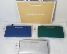 NWT MICHAEL KORS JET SET TRAVEL LARGE CARD CASE CARRYALL WALLET LEATHER $148
