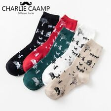 2018Autumn Winter New Ladies Cotton Socks Creative Cartoon Japanese Trees House