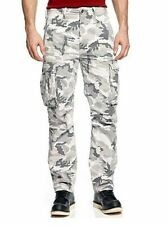 NEW MENS LEVIS RELAXED FIT ACE CARGO PANTS WHITE CAMOUFLAGE 124620040 ALL SIZES