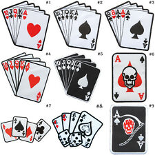 Playing Cards Casino Game Poker Vegas Biker Motorcycles Tattoo iron on patch #1