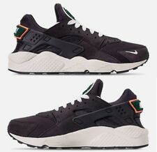 buy online 92132 a4482 NIKE AIR HUARACHE RUN PREMIUM MENs RUNNING OIL GREY - SAIL - BRIGHT MANGO  NEW