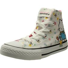 9fab14e0c7c3 Converse Chuck Taylor All Star Hello Kitty Hi White Pink Canvas Youth  Trainers