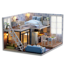 CUTEBEE DIY Doll House Wooden Doll Houses Miniature dollhouse Furniture Kit Toys