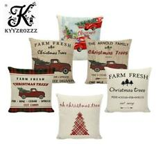 Red Farm Fresh Christmas Trees Throw Pillow Covers Decorative Truck Happy Camper