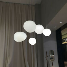 Milk White Glass Pendant Hanging Lamp for Restaurant Living Room Bedroom Cafe
