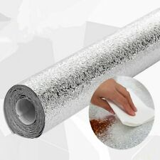 Waterproof Anti-oil Aluminum Foil Self-adhesive Sliver Wall Paper Diy Home Decor