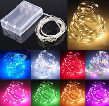 10-100 LED Christmas AA Battery Wire String Lights Wedding Party Xmas Tree Decor