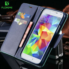 FLOVEME For Samsung Galaxy S3 III i9300 S4 i9500 Stand Wallet  Card Slot