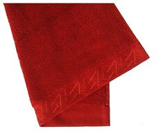 NEW Natori 4 PC Fretwork Dragon BATH TOWELS Imperial Red Embroidered Towel