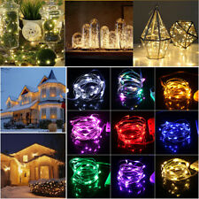 1-10M LED Christmas AA Battery Wire String Lights Wedding Party Xmas Tree Decor