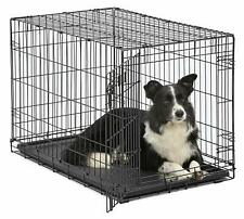 """42"""" 36"""" Pet Dog Puppy Crate Cat Cage Tray Folding Metal Kennel for Large Dogs"""