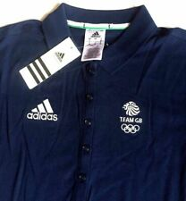 Adidas Blue Ladies Polo Shirt Team GB Official Olympic Cotton Ladies Size XS S M