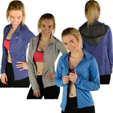 More Mile Marl Full Zip Sports Hooded Top  Womens Size