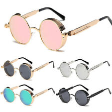 Vintage Retro Steampunk Sunglasses Inspired Gothic Metal Round Eyewear Glasses U