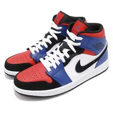the best attitude 2ad4f d4e90 Nike Air Jordan 1 Mid Top 3 White Black Blue Red AJ1 I Sneakers Shoes 554724