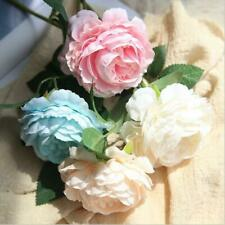 1-26Heads 28/38cm Artificial Silk Fake Large Peony Rose Flowers Wedding Party