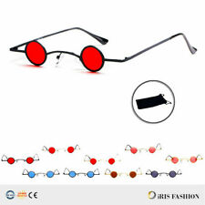 Gothic Steampunk Luxury Vintage Retro Small Round Frame Sunglasses Metal Eyewear