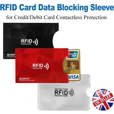 RFID/NFC Data Blocking Card Holder Sleeve Wallet for Credit Debit Protection