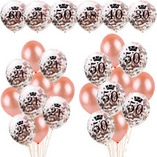 21st 18/30/40/50/60th Confetti Filled Balloon Happy Birthday Weeding Party Decor