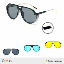 1008 Classic Retro Vintage Men Women Fashion Aviator Sunglasses w/ Side Blinders
