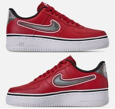 NIKE AIR FORCE 1 '07 LV8 SPORT CASUAL BOY's VARSITY RED - BLACK - WHITE NEW SIZE