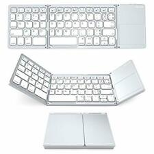 Clavier Bluetooth AZERTY Rechargeable Pliable Pavé Tactile pour iOS, Android...