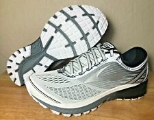 Brooks Ghost 10 Mens Running Shoes DNA White Silver Black SZ New ( 1102571D167 )