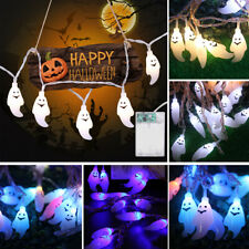 10/20/40 LED String Light Halloween Decor Ghost Lamp Battery Party Outdoor Grand