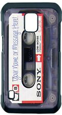 CASSETTE SONY TAPE PHONE CASE COVER FITS iPHONE SAMSUNG GOOGLE etc with TEXT