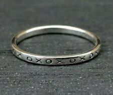 Genuine 925 Sterling Silver Hugs and Kisses Ring xox Ring Boho Sizes 6,7,8,9