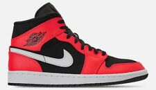 4819770e0d23d9 AIR JORDAN 1 MID RETRO MEN s BASKETBALL BLACK - INFRARED 23 - WHITE  AUTHENTIC SZ