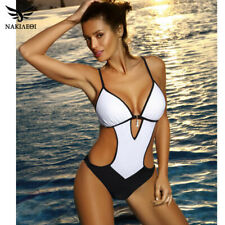 NAKIAEOI Sexy Thong One Piece Swimsuit 2019 Plus Size Swimwear Women Bathing