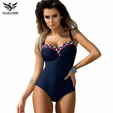 NAKIAEOI 2019 One Piece Swimsuit Plus Size Swimwear Women Push Up Swimwear