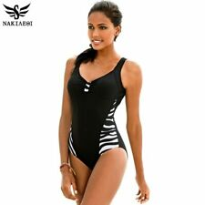 NAKIAEOI 2019 Newest One Piece Swimsuit Women Bathing Suits Vintage Summer