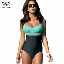NAKIAEOI One Piece Swimsuit Plus Size Swimwear Women Swimsuit 2019 Summer Large