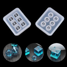 6 Cell Sphere/Cube DIY Bracelet Pendant Silicone Mold Jewelry Beads Making Mould