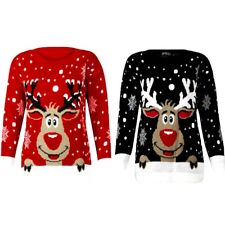Christmas Jumpers Women Men Sweatshirts Tops Winter Autumn Knitted Xmas Gifts