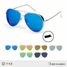 Mens Women Trendy Retro Steampunk Classic Metal AVIATOR Shades Sunglasses AV01