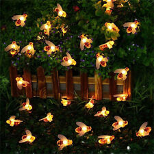 LED Solar Battery Powered Bee Fairy String Light Home Garden Party Ornament Lamp