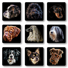 Dog Coaster, Dog Owner Gift, 75+ Breeds to choose from.