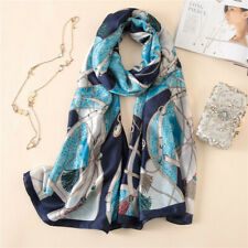 2019 Silk Scarf Soft Print Scarves Shawl Wrap Long Pashmina Beach Stole Hijabs