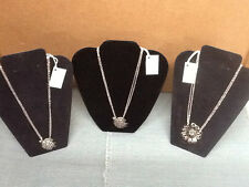 "NEW! SILVER SPOON JEWELRY Pendant with 18"" Chain Necklace 3 Designs"