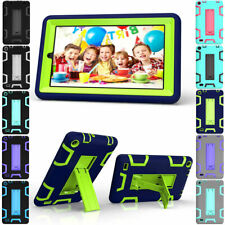 Hybrid Rubber Shockproof Protect Stand Hard Case Cover For Samsung Galaxy Tablet