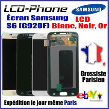 Ecran Samsung Galaxy S6 (G920F) LCD+Vitre Tactile+Home+Chassis Blanc/Or/Bleu
