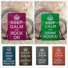 KEEP CALM Series Metal Sign Tin Art Poster Picture Bar Plaque Wall Room Decor