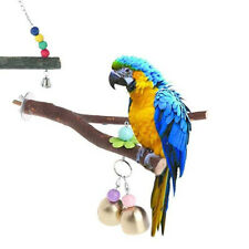 Funny Bird Cage Wood Parrot Macaw Cockatiel Stand Rack Wooden Branch Perches Toy