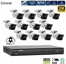 Flir IP Security Camera System with 2HDD Bays NVR and N243BW4P 4MP Bullet Camera