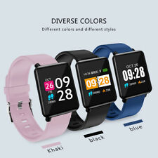 Sports Smart Watch Heart Rate Blood Pressure Waterproof Monitor For iOS Android